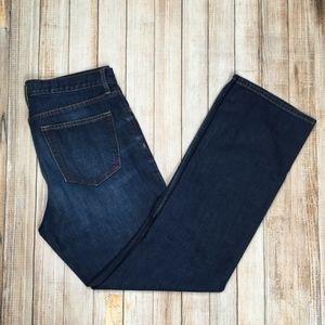Banana Republic Factory straight leg jeans dark